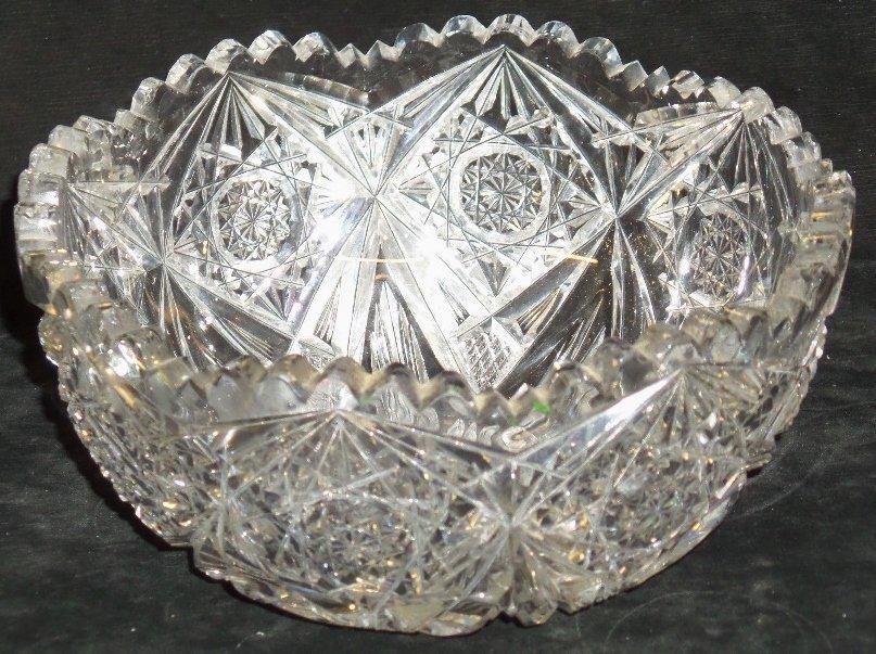 Signed Libbey Cut Glass Bowl