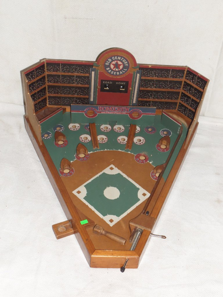 Old Century Table Top Baseball Pin Ball Game