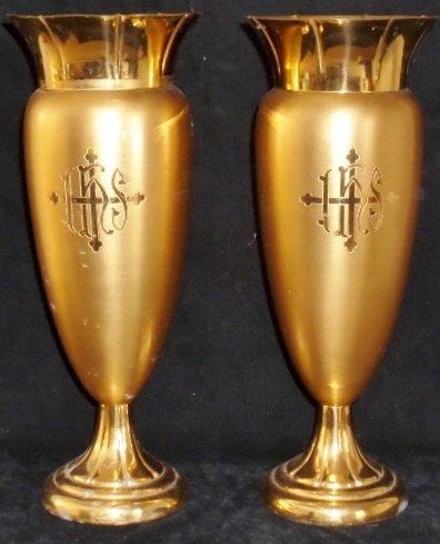 2 Altar Vases