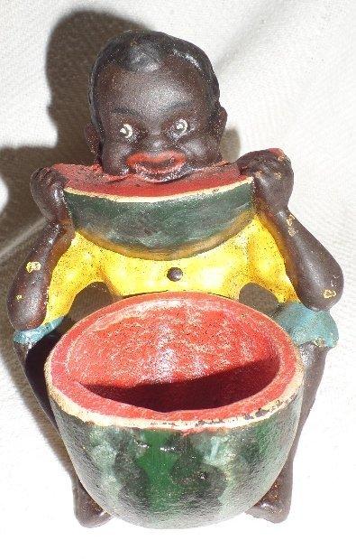 Cast Iron Black Memorabilia Tooth Pick Holder