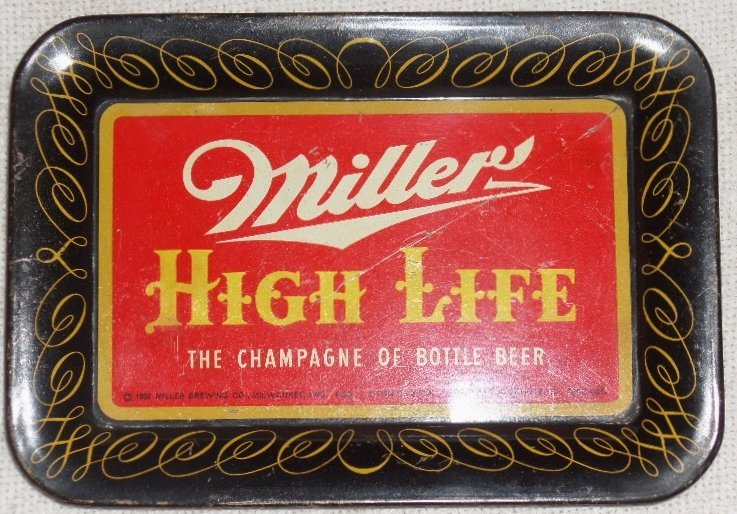 1952 Miller High Life Tray