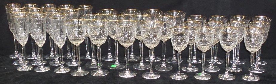36 Lenox Crystal Gold Rim Stemmed Glasses