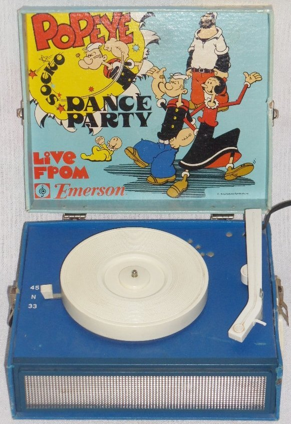 Emerson Popeye Dance Party Record Player