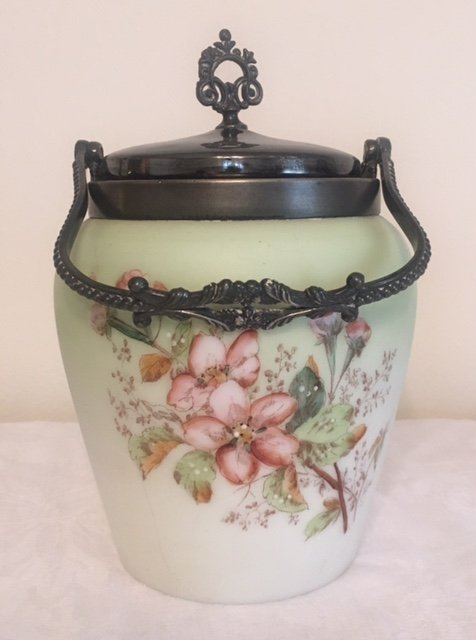 Hand Painted Cracker Jar