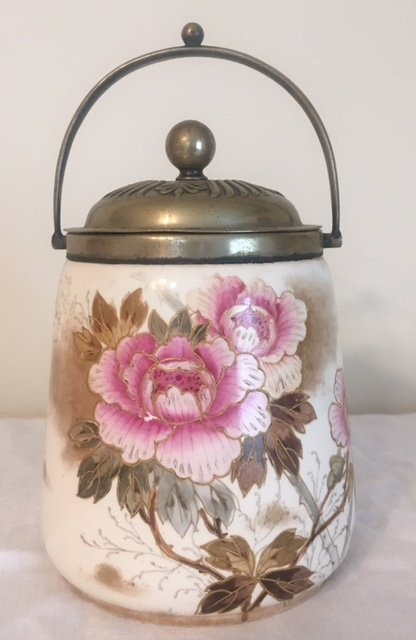 Hand Painted Cracker Jar