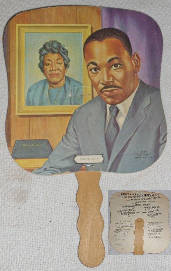 Black Americana Life Insurance Advertising Fan