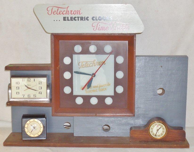 Telechron Electric Clocks Time Table Display