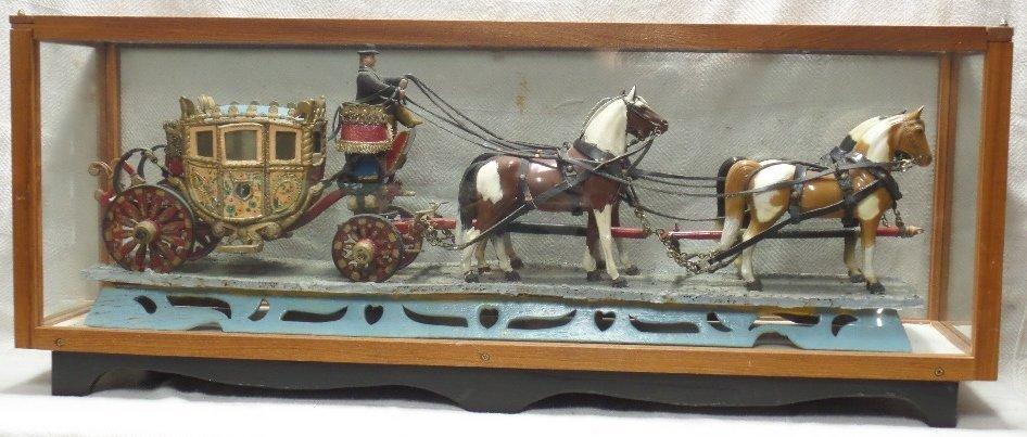 Vintage Royal Carriage with 4 Horses in Display