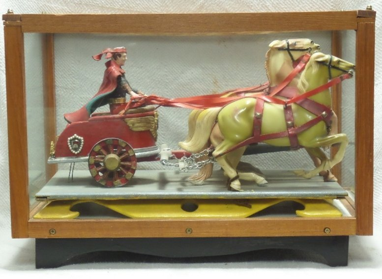 Vintage Chariot with 4 Horses in Display