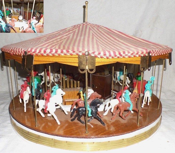 Vintage Cowboy & Indian Carousel