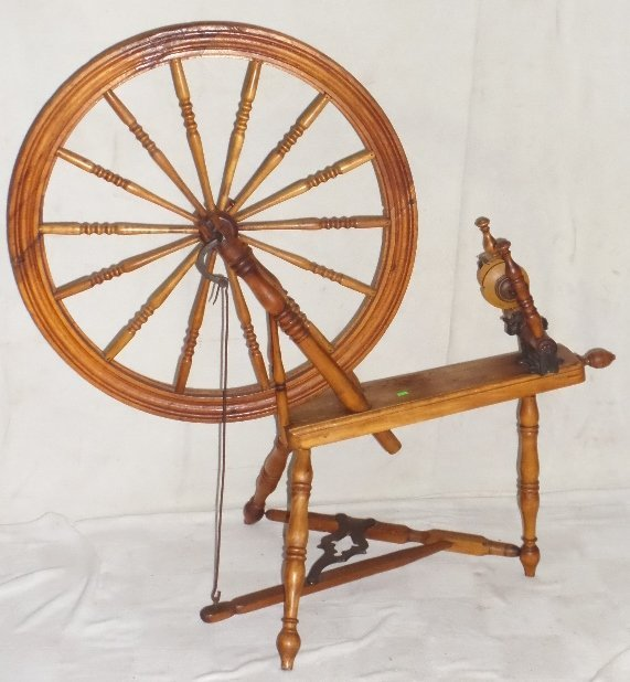L. S. Laurence Primitive Spinning Wheel