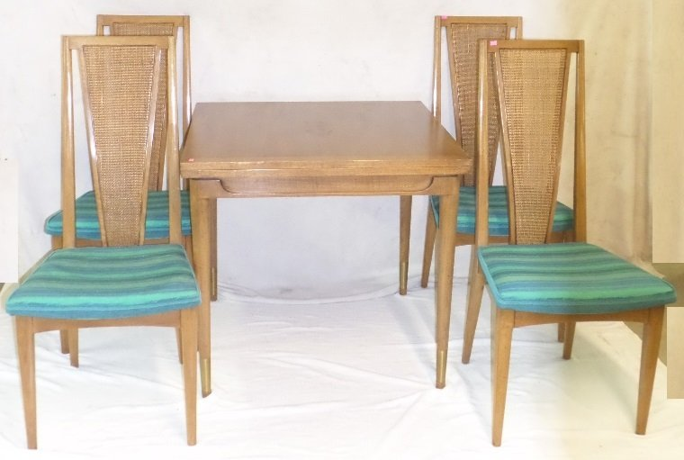 Mid Century Modern Johnson Handley Swivel Table & Chs