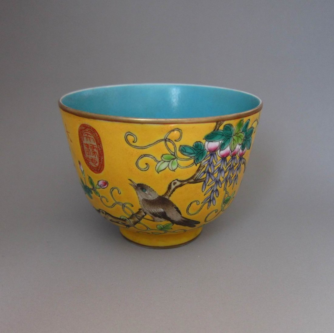 Chinese Qing Famille Rose Porcelain Cap