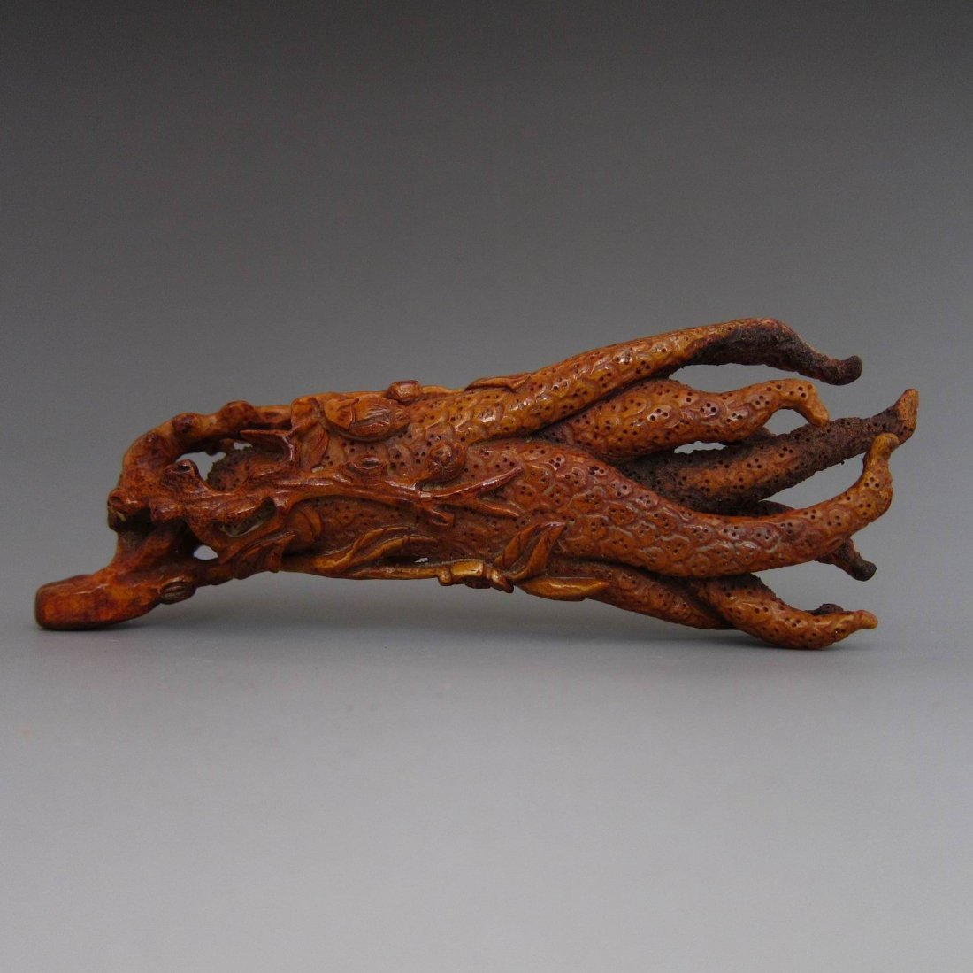 Chinese Antique Finely Carved Staghorn FO SHOU