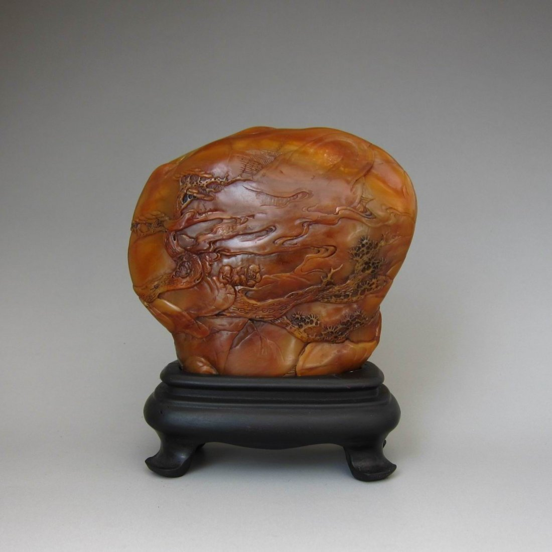 A Large Chinese Antique Finely Carved Shoushan Mountain