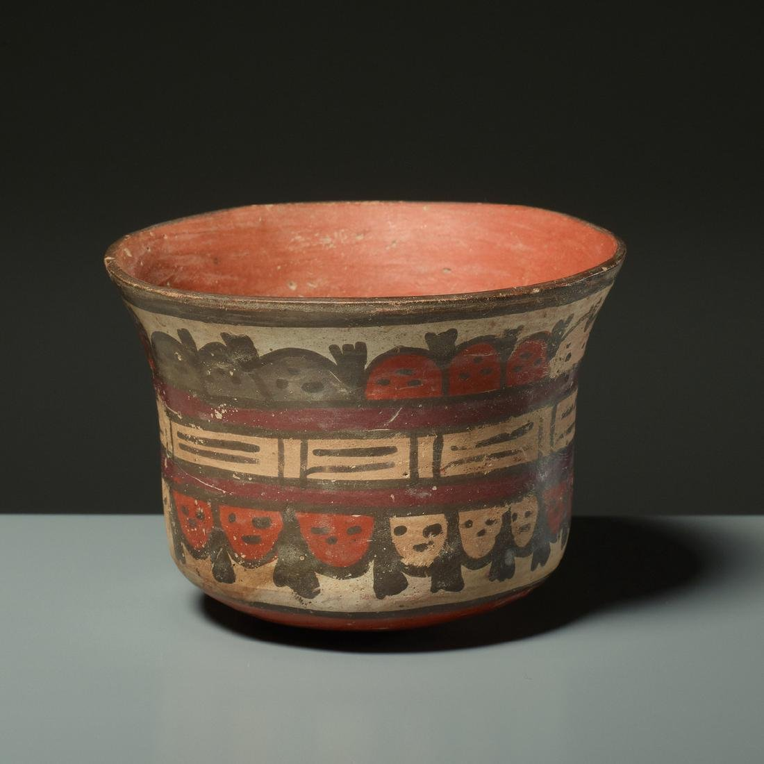 CUP WITH TROPHY HEADS - 3