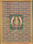 A THANGKA DEPICTING AMITAYUS