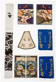 MIXED LOT OF EMBROIDERED TEXTILES