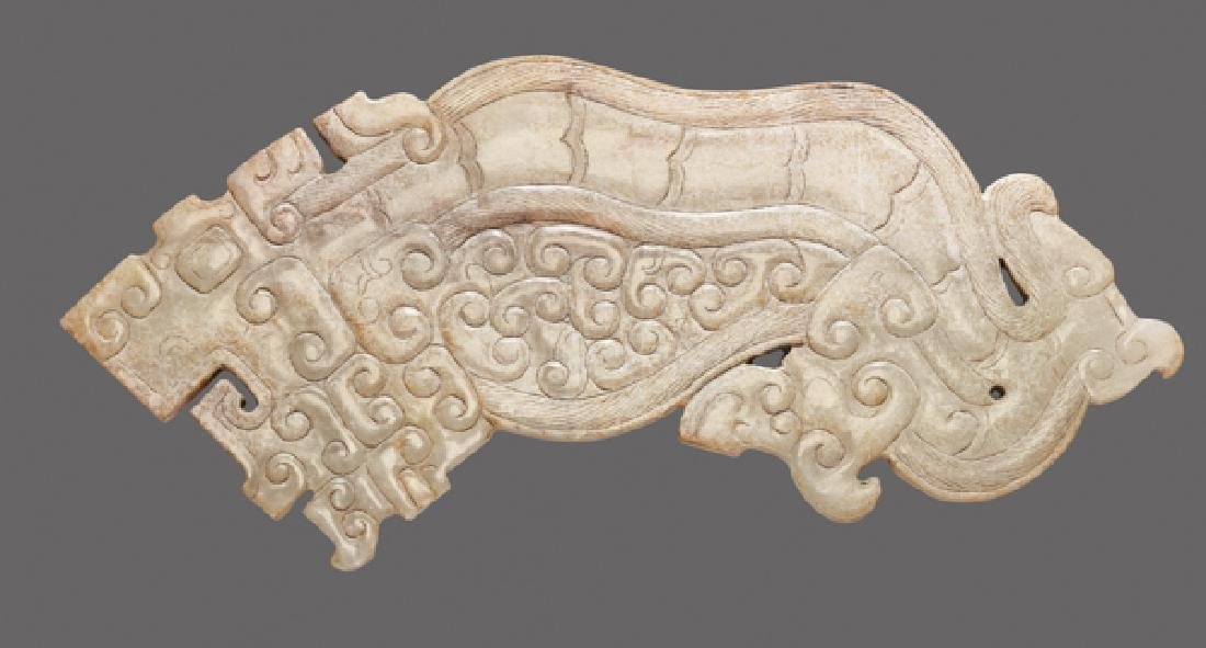 EXQUISITELY CARVED TIGER IN SEMI-TRANSLUCENT JADE - 2
