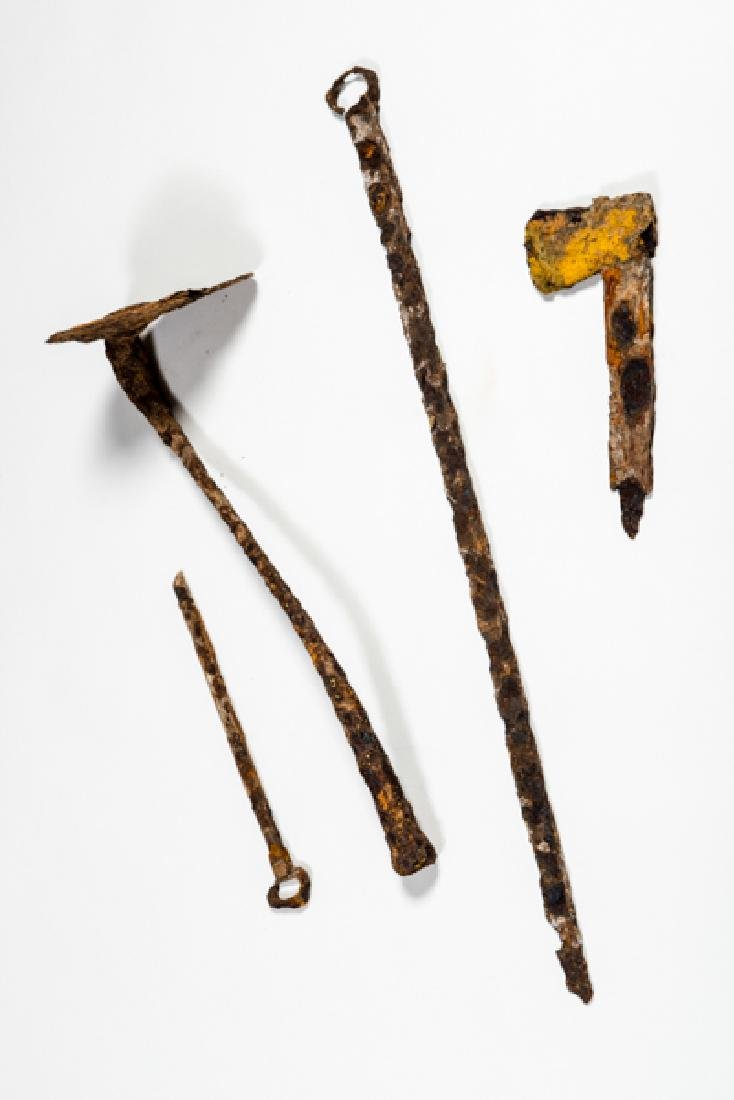 RARE COLLECTION OF IRON TOOLS