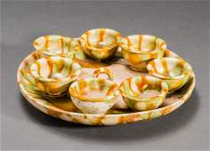 TRAY WITH SEVEN BOWLS