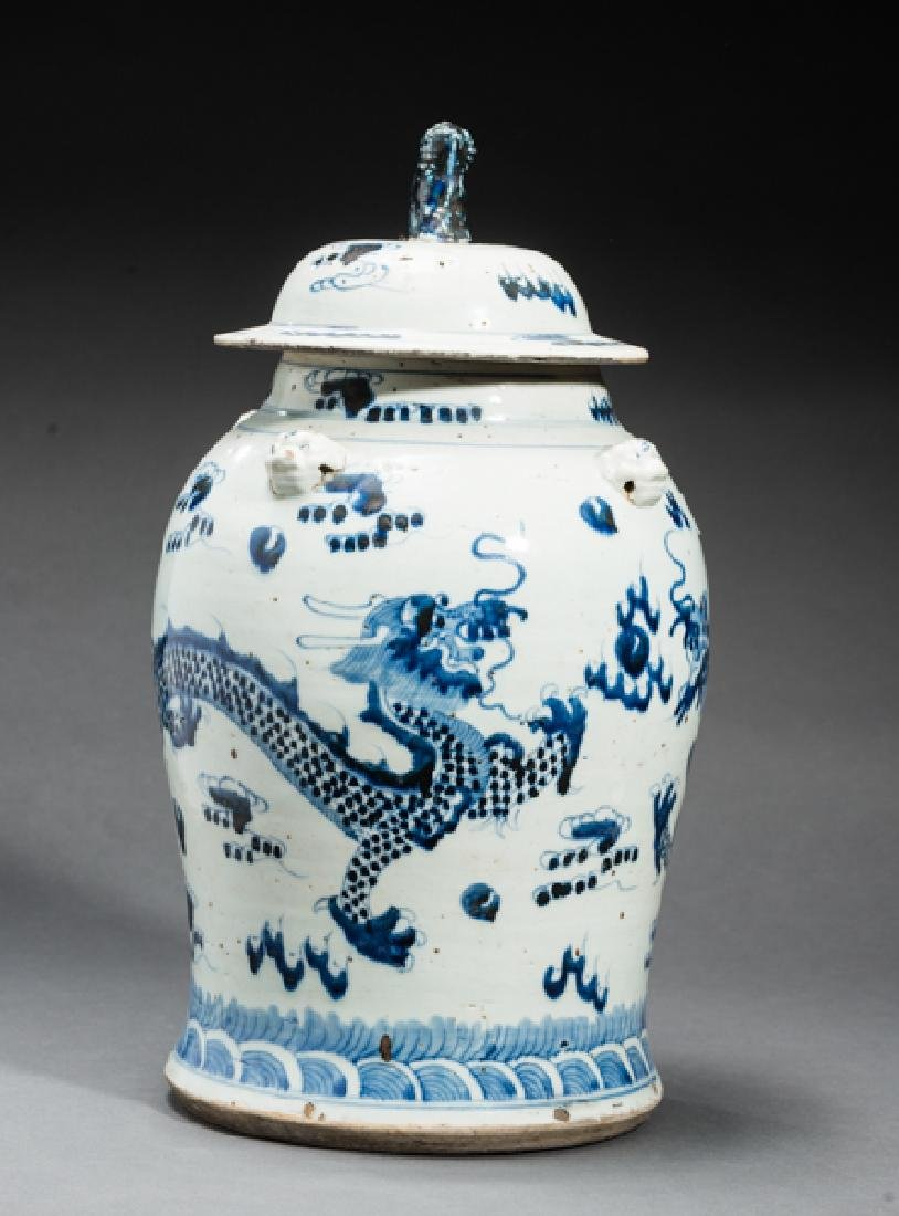LARGE LIDDED VESSEL WITH DRAGON