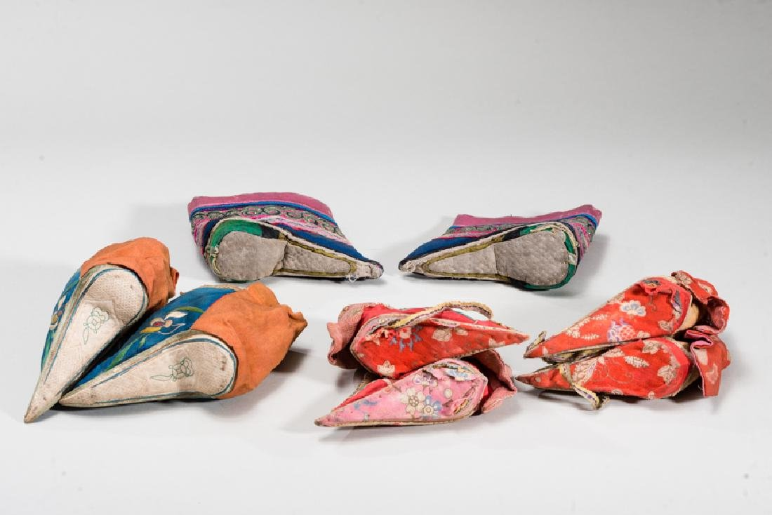 FOUR PAIRS OF CHINESE LADY'S SHOES - 2
