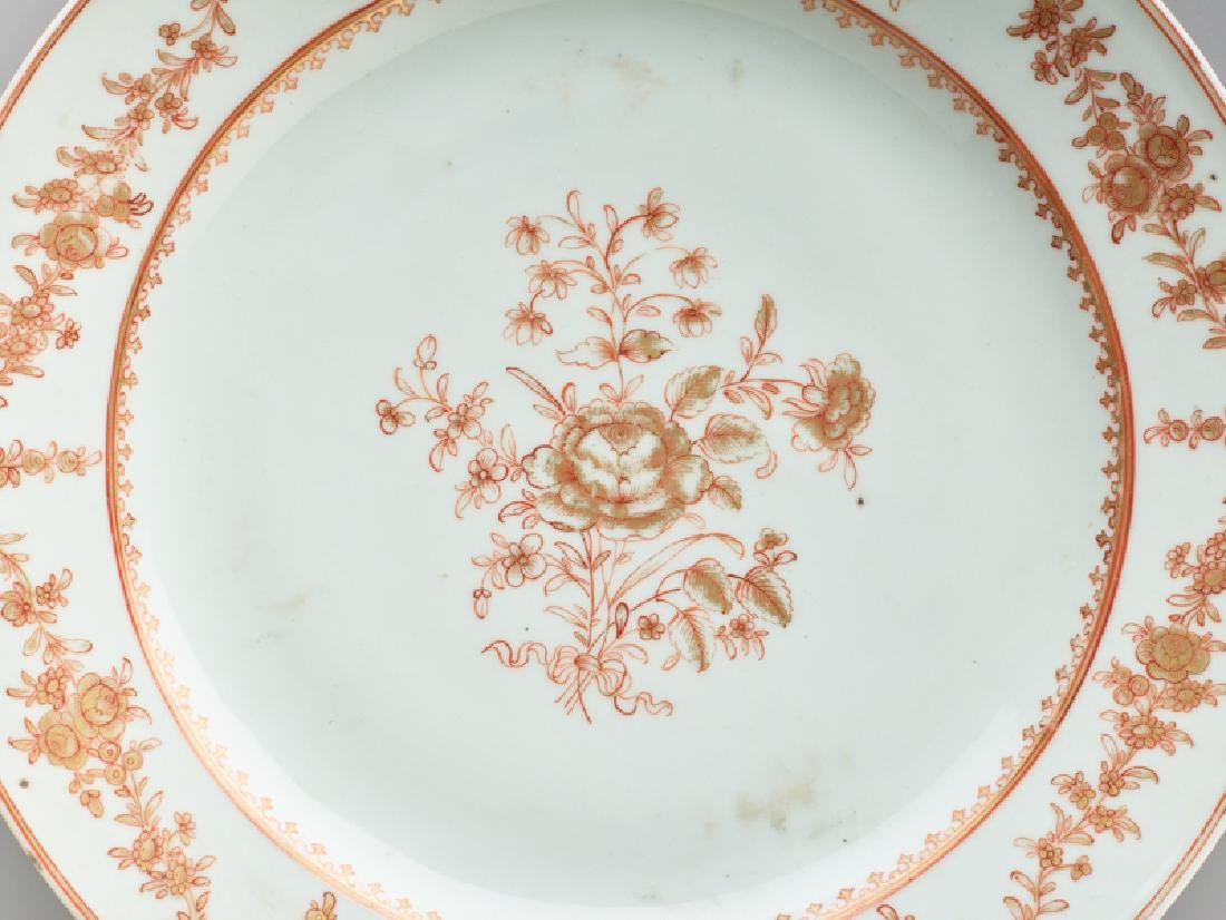 A 'PEONY' EXPORT PORCELAIN PLATE - 3