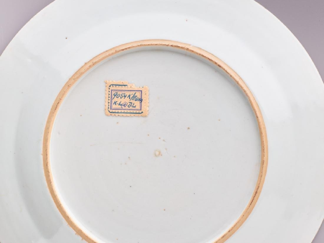 A 'PEONY' EXPORT PORCELAIN PLATE - 4