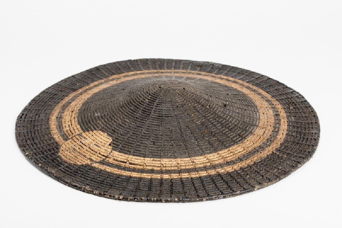 A LACQUERED BAMBOO JINGASA (WAR HAT)