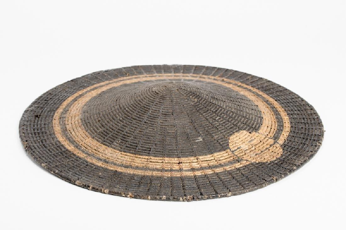A LACQUERED BAMBOO JINGASA (WAR HAT) - 2
