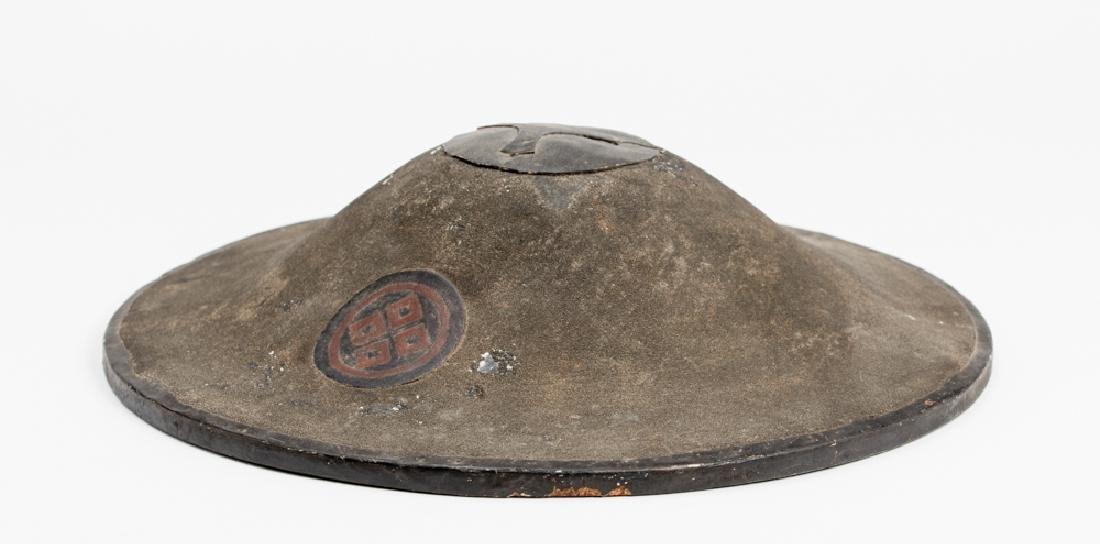 A LACQUERED JINGASA (WAR HAT) - 2