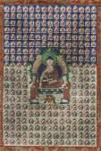 A LARGE THANGKA DEPICTING BUDDHA SHAKYAMUNI