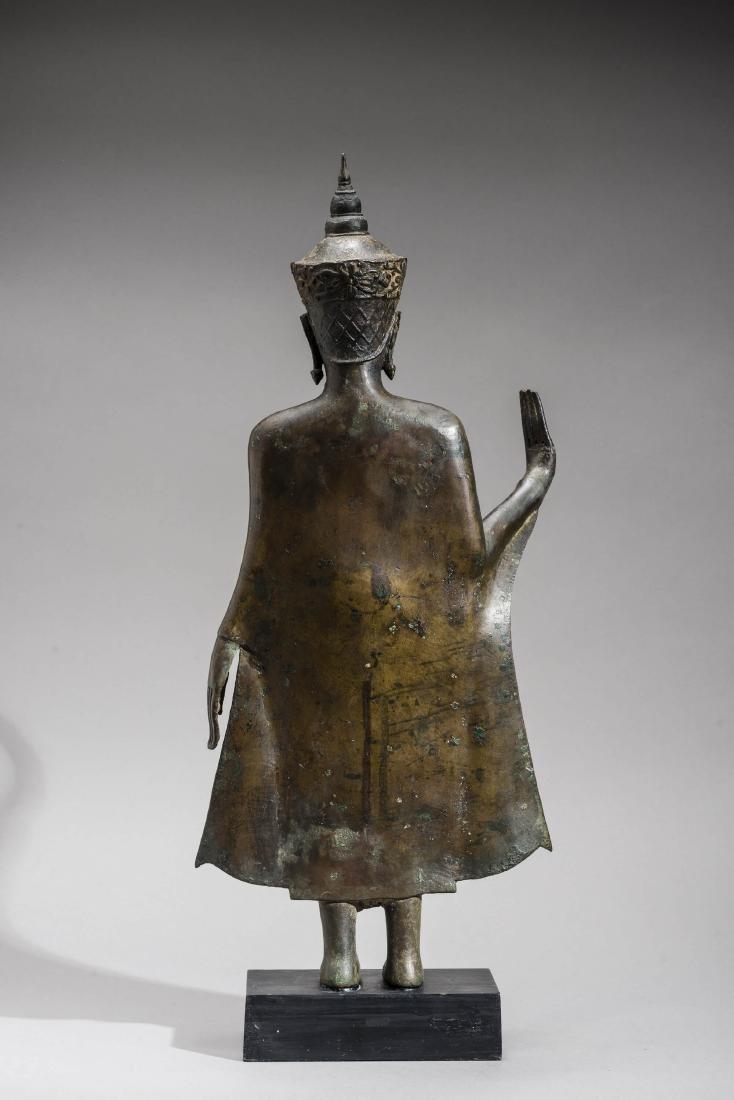 AN AYUTTHAYA BRONZE OF BUDDHA SHAKYAMUNI, 17TH - 5