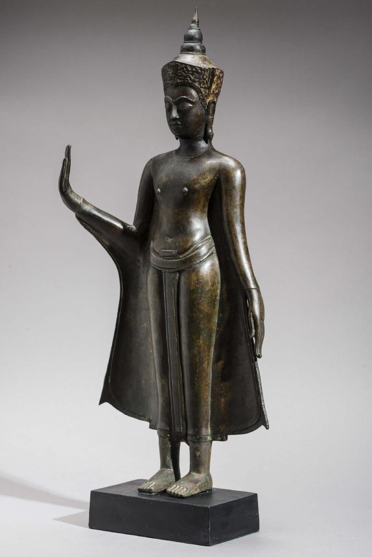 AN AYUTTHAYA BRONZE OF BUDDHA SHAKYAMUNI, 17TH - 6