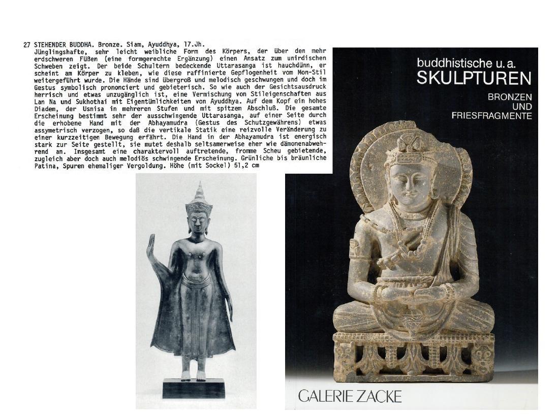 AN AYUTTHAYA BRONZE OF BUDDHA SHAKYAMUNI, 17TH - 7