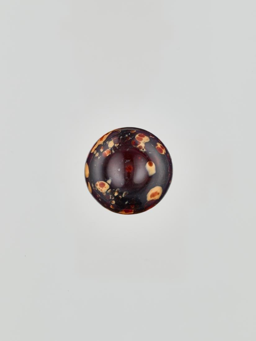 A REALGAR-SPLASHED DOUBLE-GOURD GLASS BOTTLE, 18/19c. - 6