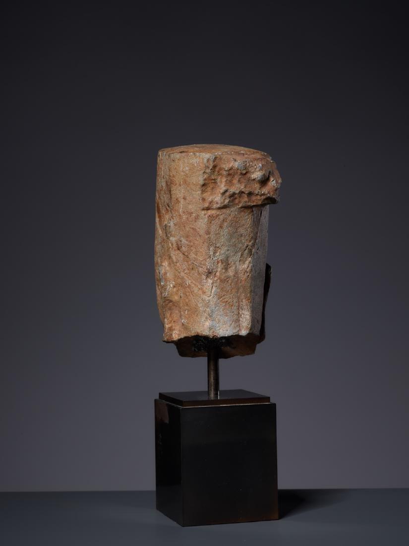 A SANDSTONE HEAD OF A DEITY, KHMER, PRE-ANGKOR PERIOD - 5