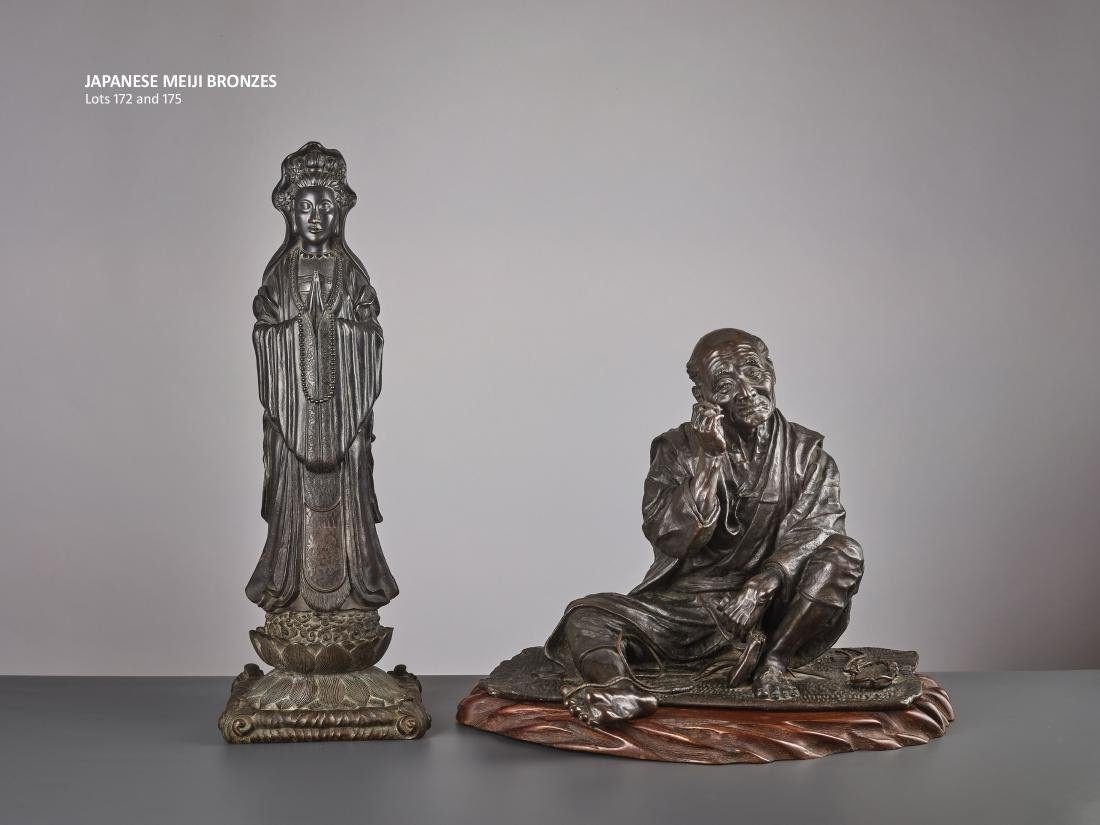 A LARGE BRONZE OF A SANDAL MAKER BY TAKAHASHI RYOUN - 3
