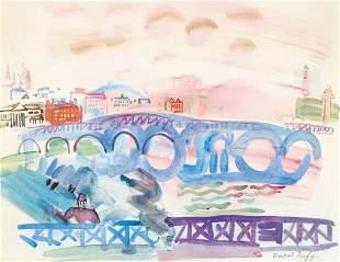 RAOUL DUFY (1877-1953), 'PONTS SUR LA TAMISE' 1928-1930