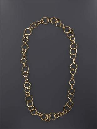 TIFFANY & CO NECKLACE, FRANK GEHRY, 18 CARAT GOLD
