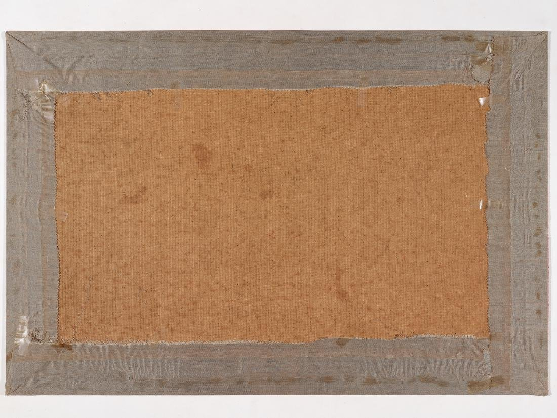 A KESI SILK WALL PANEL WITH MANCHURIAN CRANE, QING - 6
