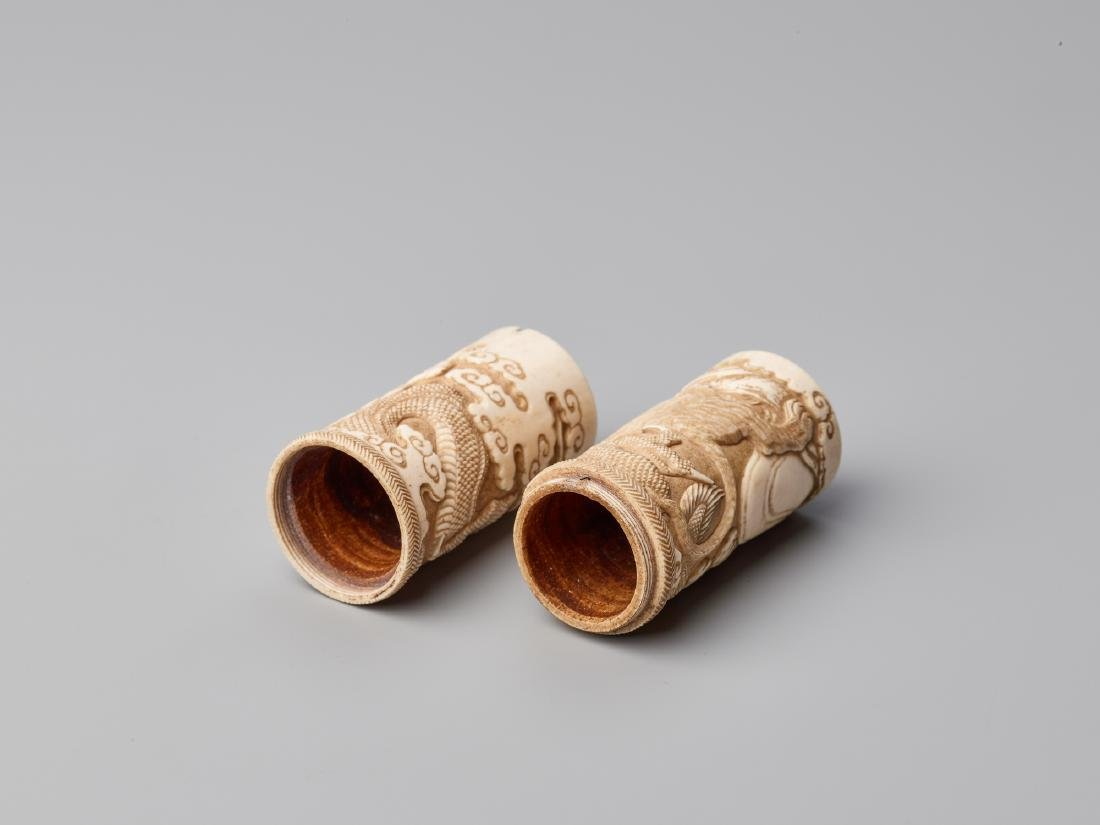 A JAPANESE STAG ANTLER SCROLL CASE FOR A BUDDHIST SUTRA - 7