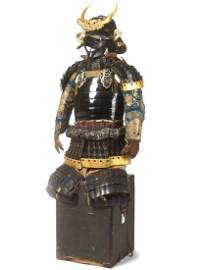 A RARE AND COMPLETE SAMURAI ARMOR WITH KABUTO