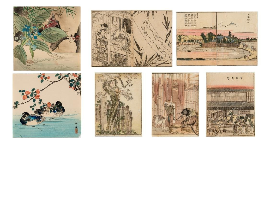 SEVEN JAPANESE COLOR WOODBLOCK PRINTS, 19TH CENTURY