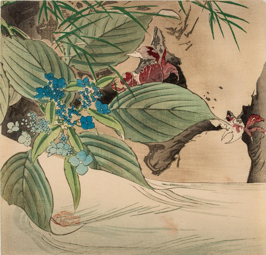 SEVEN JAPANESE COLOR WOODBLOCK PRINTS, 19TH CENTURY - 8