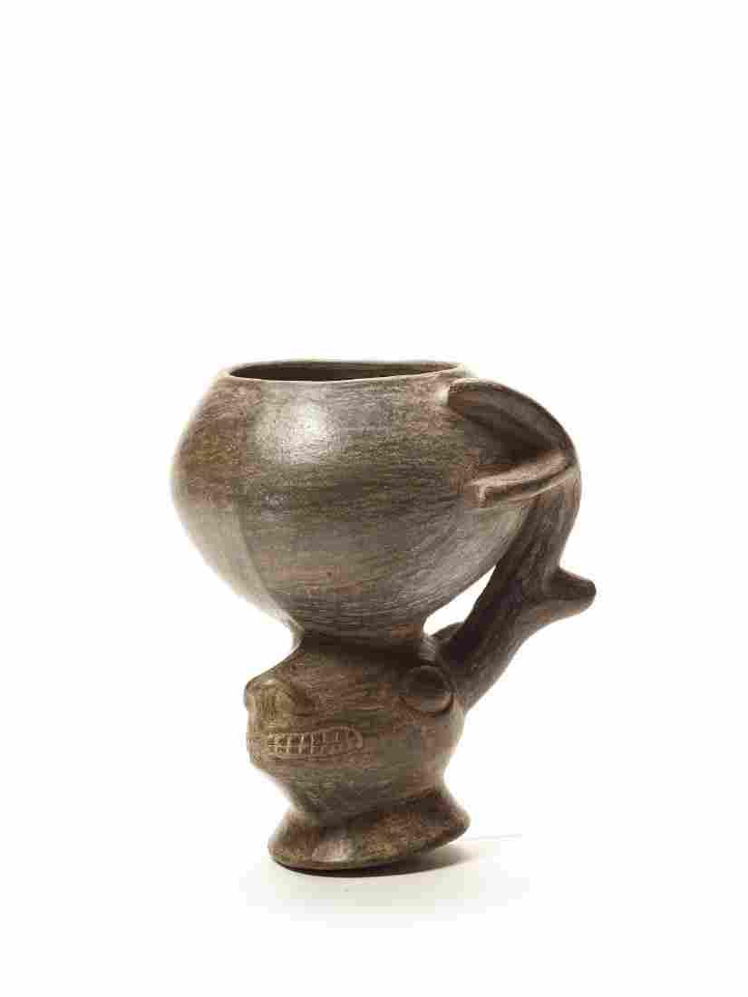 DEER'S HEAD VESSEL - INCA EMPIRE, PERU, C. 1400 AD