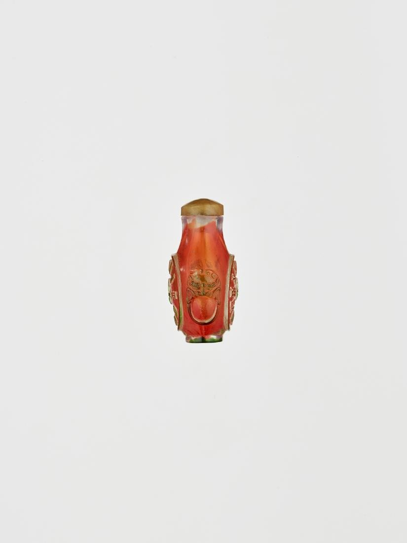 A GLASS SNUFF BOTTLE 1770-1830 - 4