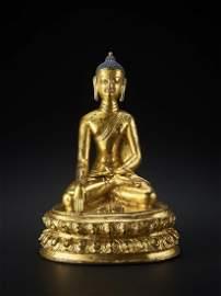 A LARGE VAJRASANA BUDDHA 15TH CENTURY