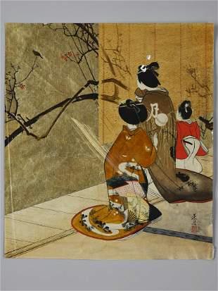 SHIBATA ZESHIN: A FINE URUSHI-E PAINTING